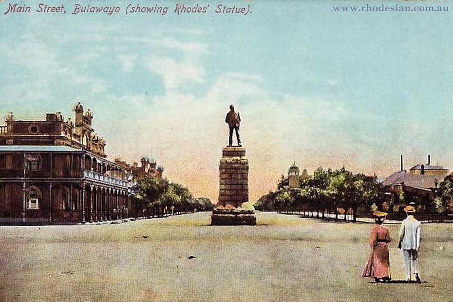 Photo of Bulawayo Main street with Rhodes statue