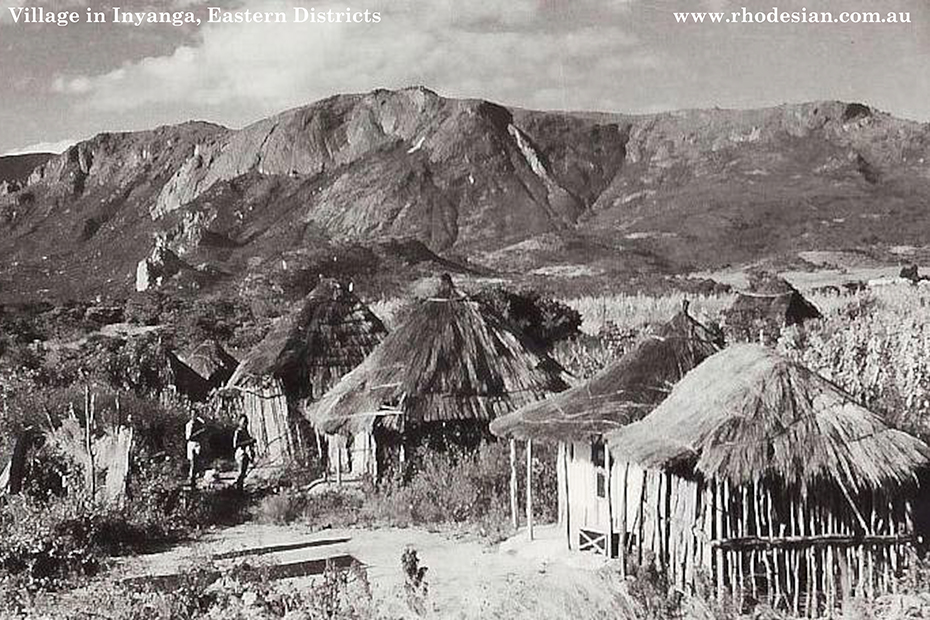 Photo of traditional village in Inyanga in Manicaland