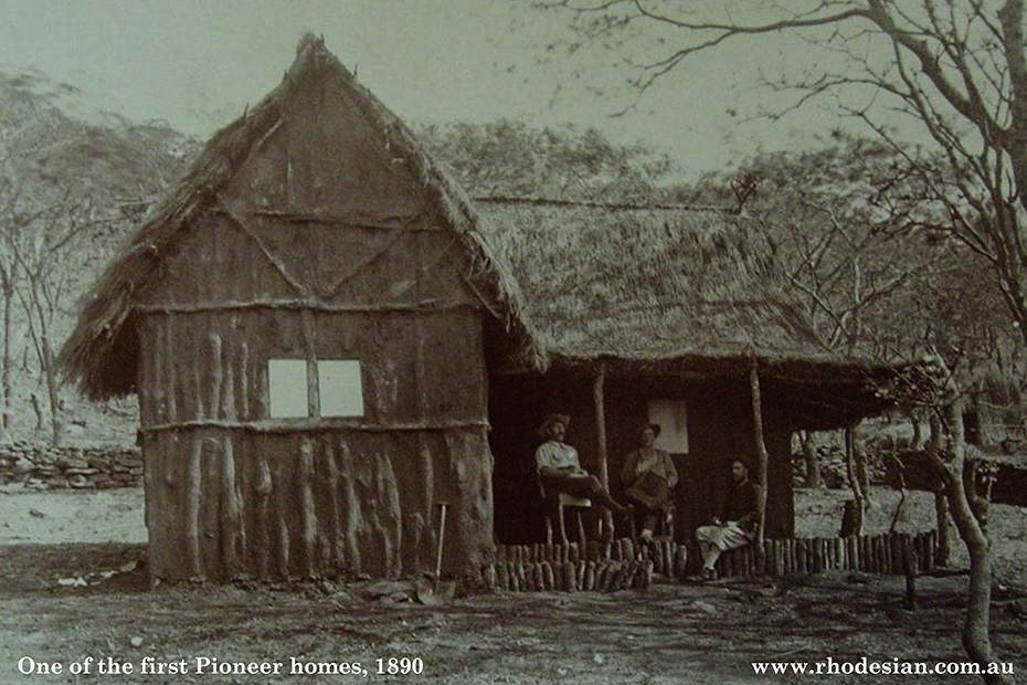 Photo of one of the first Pioneer houses in 1890