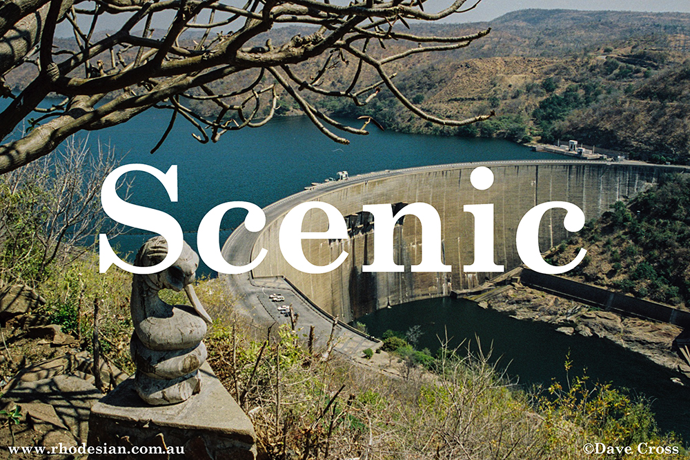 Photograph of Kariba Dam wall as a button to slecet Scenic gallery of photographs